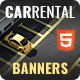 Car Rental - Animated HTML5 Banner Ad Templates (GWD)