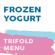 Frozen Yogurt Trifold Menu - GraphicRiver Item for Sale