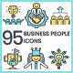 Business People Icons - Aqua Series - GraphicRiver Item for Sale