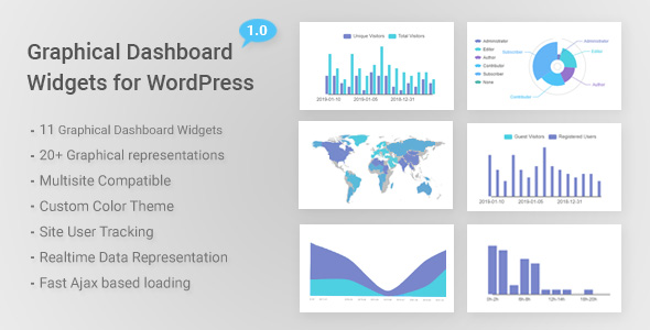 Graphical Dashboard Widgets for WordPress - CodeCanyon Item for Sale