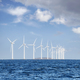Offshore windmill farm on a sunny day - PhotoDune Item for Sale