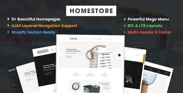 HomeStore – Modern, Minimal & Multipurpose Shopify Theme with Sections - Shopify eCommerce