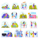 Lazy Weekends People Flat Icon Set - GraphicRiver Item for Sale