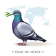 Worldwide Peace Pigeon Background - GraphicRiver Item for Sale