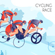 Cycling Race Illustration - GraphicRiver Item for Sale