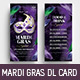 Mardi Gras DL Rack Card - GraphicRiver Item for Sale