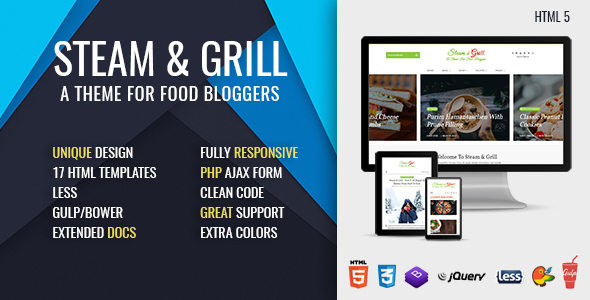 Steam & Grill - Responsive E-commerce Theme For Food Bloggers (now at version 2.0) - Food Retail