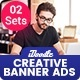 Multipurpose, Creative, Startup Agency Banners Ad - 02 Sets - GraphicRiver Item for Sale