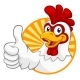 Chicken Cartoon Rooster Cockerel Character - GraphicRiver Item for Sale