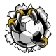 Soccer Ball Eagle Claw Talons Tearing Background - GraphicRiver Item for Sale