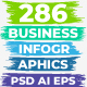 286 Business Infographics. PSD AI EPS. - GraphicRiver Item for Sale
