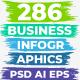 286 Business Infographics. PSD AI EPS. - GraphicRiver Item for Sale