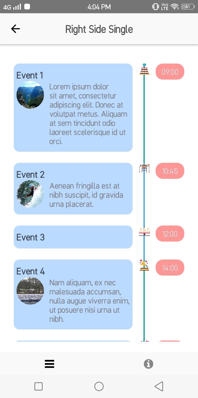 React native Timeline UI | Component