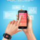Realistic Smart Watch Health Composition - GraphicRiver Item for Sale