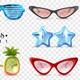 Glasses Carnival Transparent Set - GraphicRiver Item for Sale