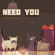 Homeless Animals Flat Poster - GraphicRiver Item for Sale