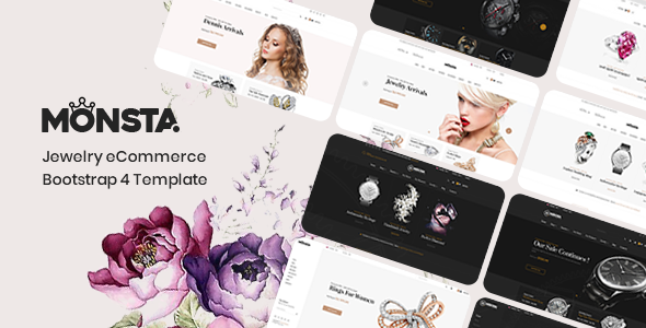 Monsta - Jewelry eCommerce Bootstrap 4 Template - Shopping Retail