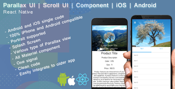 React native Parallax UI | Scroll view