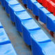 empty blue and red stadium seats - PhotoDune Item for Sale