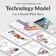 3 in 1 Technology Model Bundle Pitch Deck Google Slide Templatea - GraphicRiver Item for Sale