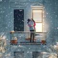couple on balcony on Valentine's day - PhotoDune Item for Sale