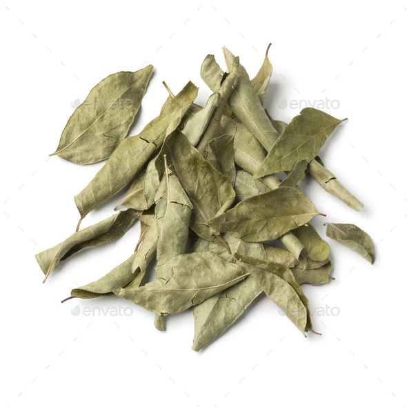 Heap of dried curry leaves - Stock Photo - Images