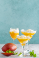 Refreshing summer mango cocktail with fresh juice and ice cream - PhotoDune Item for Sale