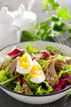 Tuna salad in bowl. Mediterranean food. Fresh salad with canned tuna fish. Healthy diet food - PhotoDune Item for Sale