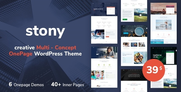 Stony - Multi-Purpose One-Page WordPress Theme