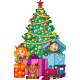 Christmas Tree with Elves - GraphicRiver Item for Sale