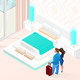 Summer Vacation in Luxury Hotel Isometric Vector - GraphicRiver Item for Sale