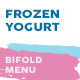 Frozen Yogurt Bifold / Halffold Menu - GraphicRiver Item for Sale