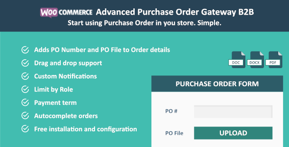 WooCommerce Purchase Order Gateway B2B - CodeCanyon Item for Sale