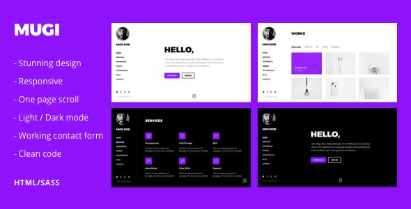 Mugi - Personal Portfolio & Resume HTML Template - Portfolio Creative