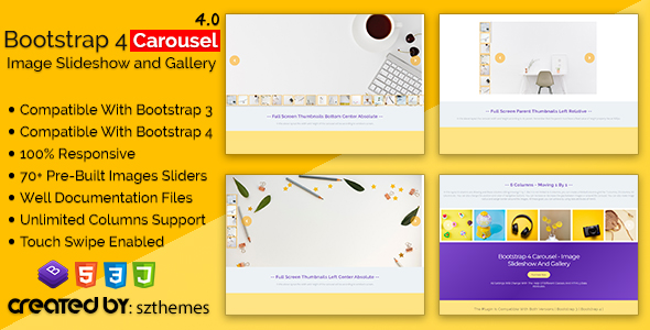 Bootstrap 4 Carousel - Image Slideshow and Gallery