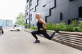 Fit Woman Do Lunge Workout Outdoor in the City - PhotoDune Item for Sale