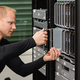 Male Technical Consultant Replacing Blade Server In SAN At Datacenter - PhotoDune Item for Sale