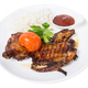 Grilled chicken tabaka with rice. - PhotoDune Item for Sale