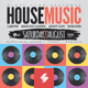 Retro House Music Party Flyer / Poster Template A3 - GraphicRiver Item for Sale