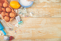 Baking or cooking ingredients. Bakery frame. Dessert ingredients and utensils. - PhotoDune Item for Sale