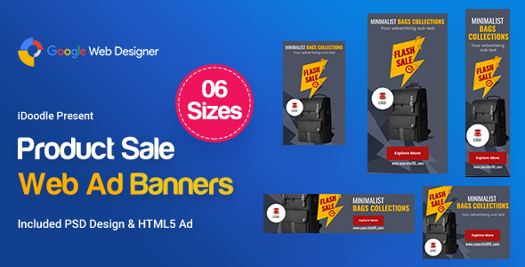 Product Sale Banners HTML5 Ad - CodeCanyon Item for Sale