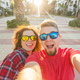 Travel, vacation and holiday concept - Young couple taking selfie outdoor - PhotoDune Item for Sale