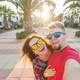 Travel, vacation and holiday concept - Happy traveling couple in love taking a selfie on phone - PhotoDune Item for Sale