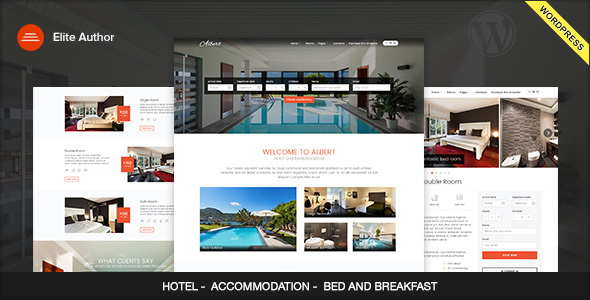 Download Albert – Hotel and Bed&Breakfast WordPress Theme nulled Image Preview