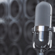 Microphone on black background from  professional loudspeakers a - PhotoDune Item for Sale