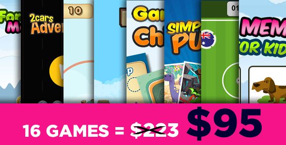 Mega Bundle 16 Games - HTML5 Games (CAPX) - CodeCanyon Item for Sale
