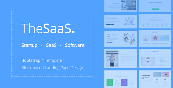 TheSaaS - Responsive Bootstrap SaaS, Startup & WebApp Template - Software Technology