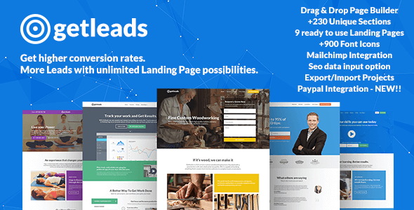 Getleads - Landing Page Pack with Page Builder - Marketing Corporate