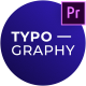 Creative Animated Typography - For Premiere Pro - VideoHive Item for Sale