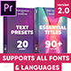 Essential Titles Pack - VideoHive Item for Sale